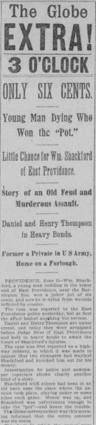 William Shackford Shot Boston Daily Globe 15 Jun 1895 Part 1